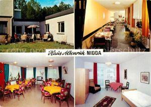 AK / Ansichtskarte Nidda Alten  und Pflegeheim Haus Altenruh Nidda