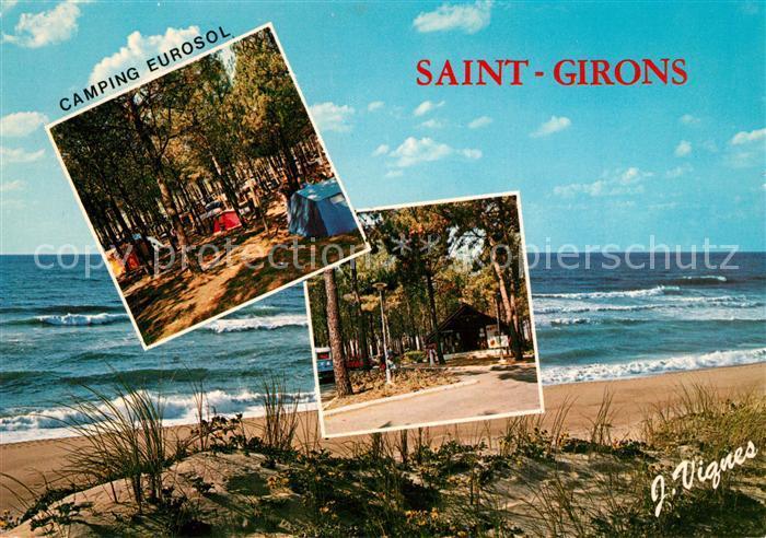 AK / Ansichtskarte Saint_Girons_Landes La Plage et le Camping Eurosol Collection Visage des Landes