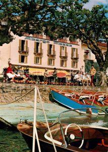 AK / Ansichtskarte Ascona_Lago_Maggiore Hotel Restaurant Piazza au Lac Ascona_Lago_Maggiore