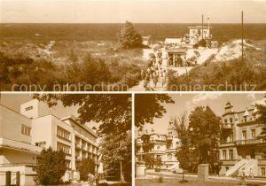 AK / Ansichtskarte Swinoujscie_Swinemuende Wejscie na plaze Dom wypoczynkowy Ewunia Ulica Orkana Strand Ferienhaus Swinoujscie Swinemuende
