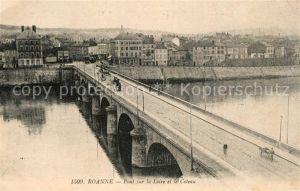 AK / Ansichtskarte Roanne_Loire Pont sur la Loire et le Coteau Roanne Loire
