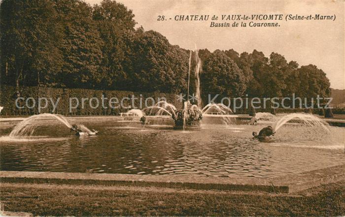 AK / Ansichtskarte Vicomte sur Rance_La Chateau de Vaux le Vicomte Bassin de la Couronne Vicomte sur Rance_La