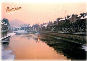AK / Ansichtskarte Besancon_Doubs Les quais Coucher de soleil sur le Doubs Besancon Doubs