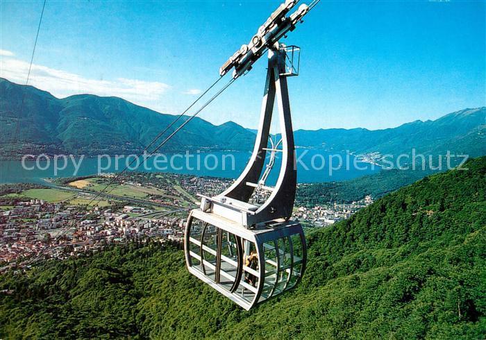 AK / Ansichtskarte Locarno_Lago_Maggiore mit Orselina und Cardada Funivia Locarno_Lago_Maggiore