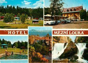 AK / Ansichtskarte Hrensko Hotel Mezni louka Chatovy tabor Koupaliste Pravcicka brana Divoka souteska Hrensko