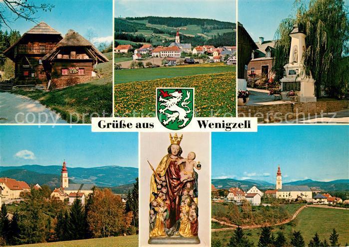 AK / Ansichtskarte Wenigzell Heimathaus Kriegerdenkmal Schutzmantelmadonna Wenigzell