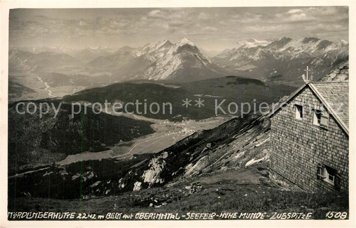 AK / Ansichtskarte Noerdlinger_Huette Seefeld Hohe Munde Zugspitze Noerdlinger Huette