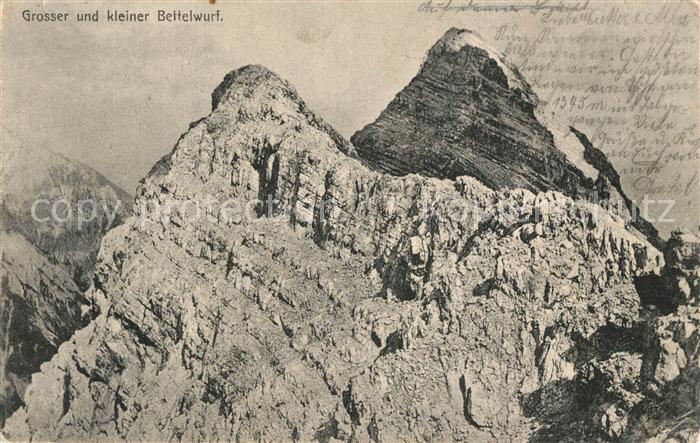 AK / Ansichtskarte Karwendel Grosser und kleiner Bettelwurf Karwendel