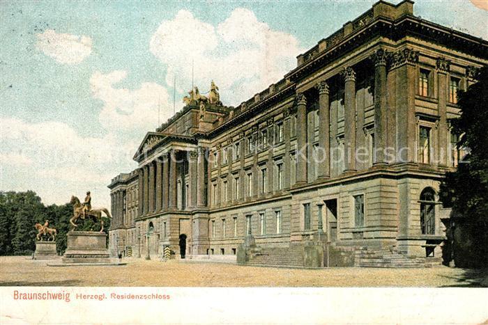 AK / Ansichtskarte Braunschweig Herzogliches Residenzschloss Braunschweig