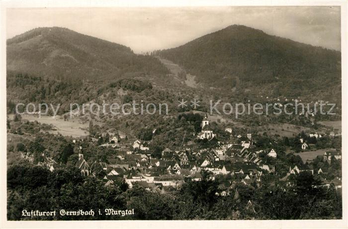 AK / Ansichtskarte Gernsbach Panorama Gernsbach