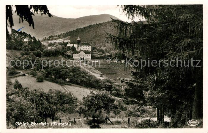 AK / Ansichtskarte Murgtal_Baden Schloss Eberstein Murgtal_Baden