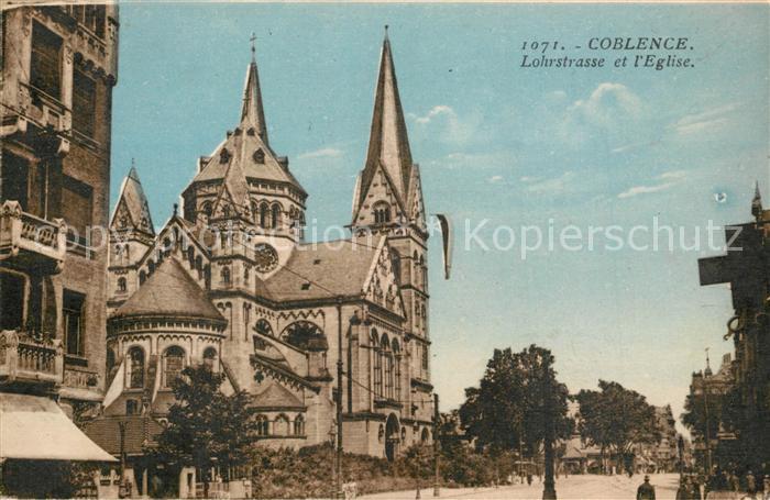AK / Ansichtskarte Coblenz_Koblenz Lohrstrasse Kirche Coblenz_Koblenz