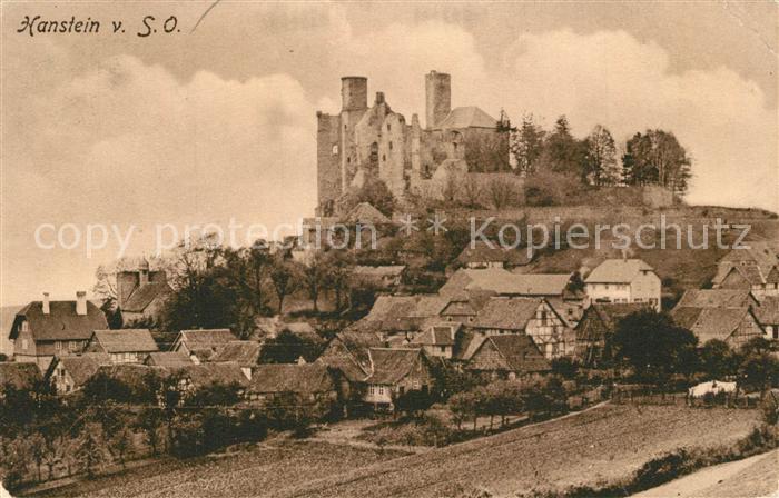 AK / Ansichtskarte Werleshausen Burg Hanstein  Werleshausen
