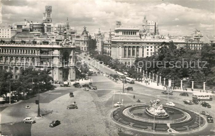 AK / Ansichtskarte Madrid_Spain Cibeles y Calle Alcala Madrid Spain