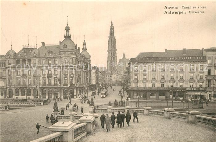 AK / Ansichtskarte Anvers_Antwerpen Canal au sucre Anvers Antwerpen