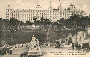 AK / Ansichtskarte Cimiez Excelsior Hotel Regina Monument de la Reine Victoria Cimiez