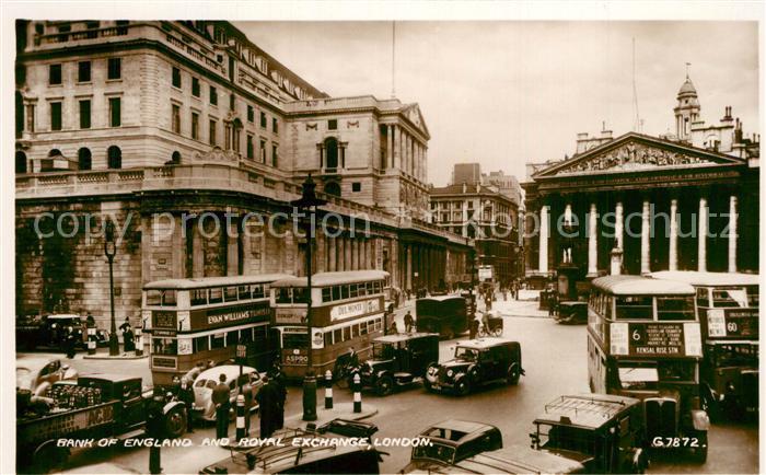 AK / Ansichtskarte London Bank of England and Royal Exchanges London