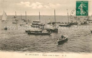 AK / Ansichtskarte Arcachon_Gironde Regates avant le depart Arcachon Gironde