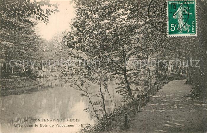 AK / Ansichtskarte Fontenay sous Bois Allee dans le Bois de Vincennes Fontenay sous Bois