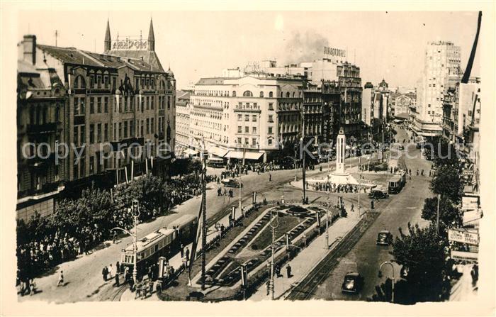 AK / Ansichtskarte Strassenbahn Belgrad Innerer Markt