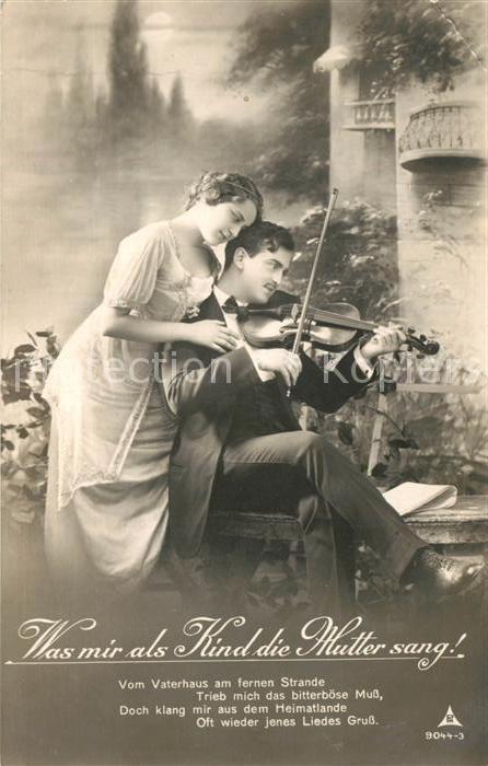 AK / Ansichtskarte Foto_PH_Nr. 9044 3 Poesie Was mir als Kind die Mutter sang Geige  Foto_PH_Nr.