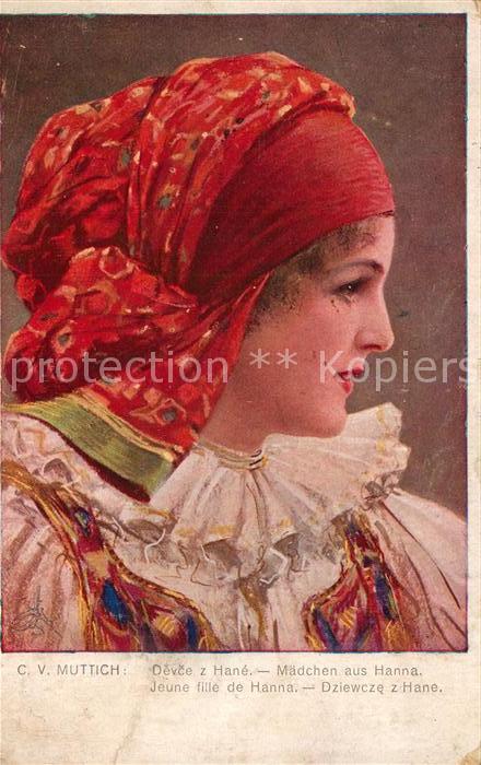 AK / Ansichtskarte 0 Kuenstlerkarte C. V. Muttich Maedchen aus Hanna