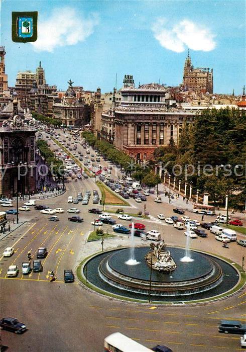 AK / Ansichtskarte Madrid_Spain La Cibeles y Calle Alcala Madrid Spain
