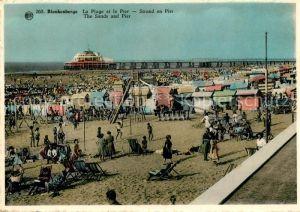 AK / Ansichtskarte Blankenberge La Plage et le Pier Blankenberge