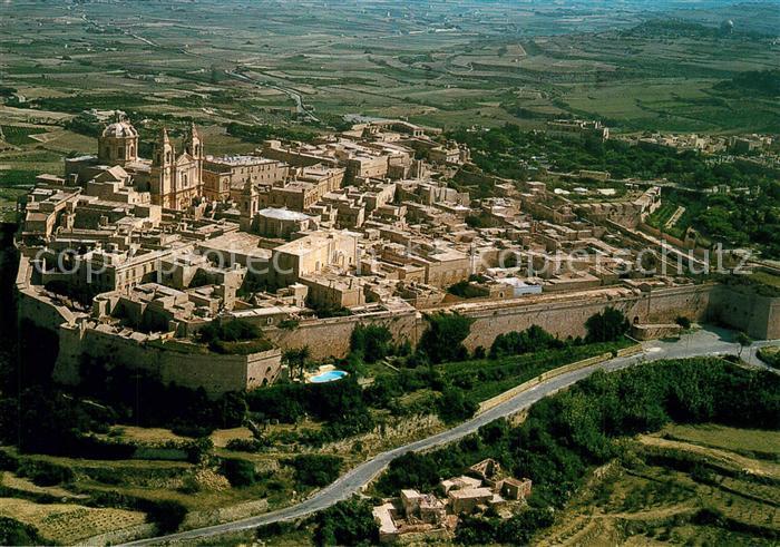 AK / Ansichtskarte Mdina_Malta Ancient Capital of Malta citta vecchia veduta aerea Mdina Malta