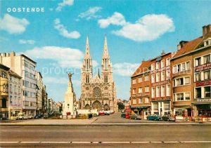 AK / Ansichtskarte Oostende_Ostende Place Saint Pierre et Paul Eglise Monument