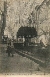AK / Ansichtskarte Barjols Fontaine de la Place de Hotel de Ville Barjols