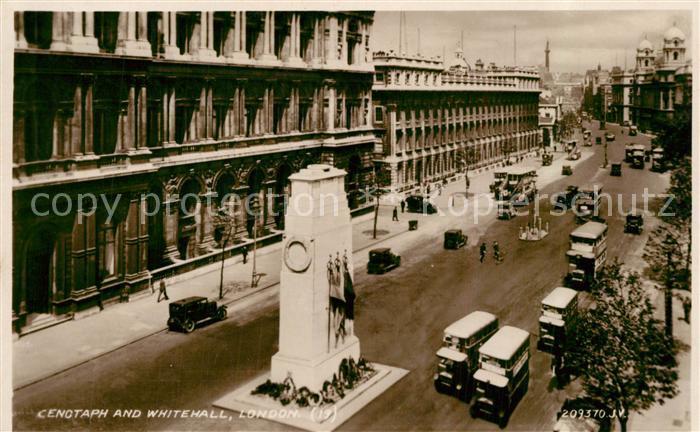 AK / Ansichtskarte London Cenotaph and Whitehall London