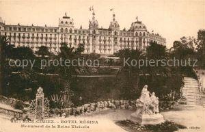 AK / Ansichtskarte Nice_Alpes_Maritimes Cimiez Hotel Regina Monument de la Reine Victoria Nice_Alpes_Maritimes