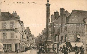 AK / Ansichtskarte Moulins_Allier Rue d`Allier Moulins Allier
