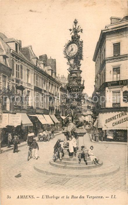 AK / Ansichtskarte Amiens Horloge et la Rue des Vergeaux Amiens