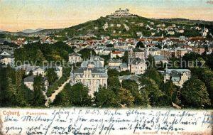AK / Ansichtskarte Coburg Stadt mit Festung Coburg