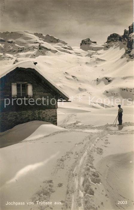 AK / Ansichtskarte Ski Langlauf Jochpass Tr?bsee