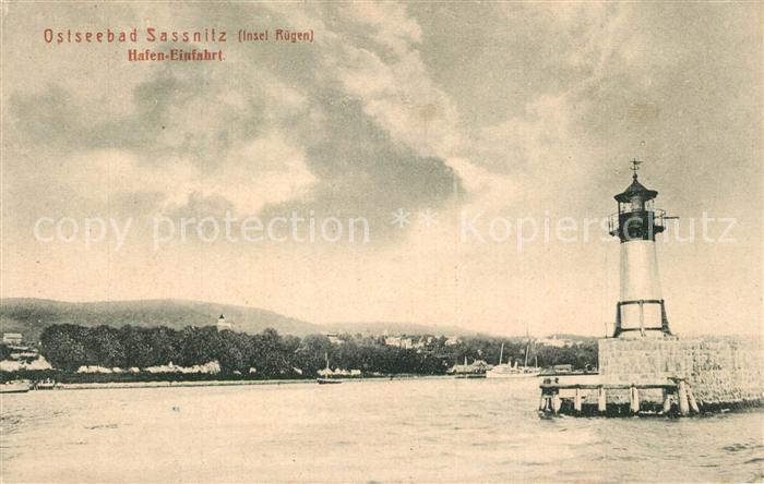AK / Ansichtskarte Sassnitz_Ostseebad_R?gen Hafeneinfahrt