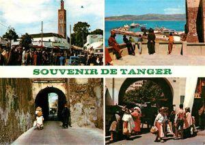 AK / Ansichtskarte Tanger_Tangier_Tangiers Strassenszene Aussichtspunkt Blick auf den Hafen Mole Tanger_Tangier_Tangiers