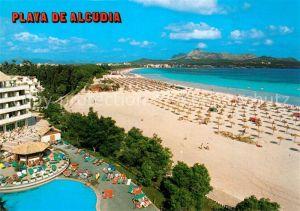 AK / Ansichtskarte Alcudia_Mallorca Hotel Swimming Pool Strand Kuestenpanorama Alcudia Mallorca
