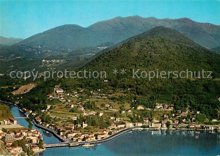 AK / Ansichtskarte Ponte_Tresa_Lago_di_Lugano Il Ticino pittoresco veduta aerea Ponte_Tresa