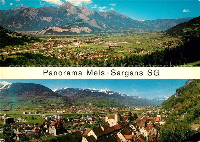 AK / Ansichtskarte Mels Panorama Mels Sargans Alpen Mels