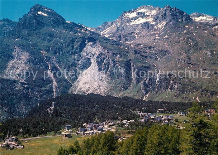 AK / Ansichtskarte Maloja_GR Panorama mit Piz Longhin Albula Alpen Maloja_GR
