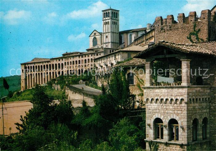 AK / Ansichtskarte Assisi_Umbria Basilica di San Francesco Sacro Convento Basilika Heiliges Kloster Assisi Umbria