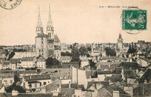 AK / Ansichtskarte Moulins_Allier Vue generale Moulins Allier
