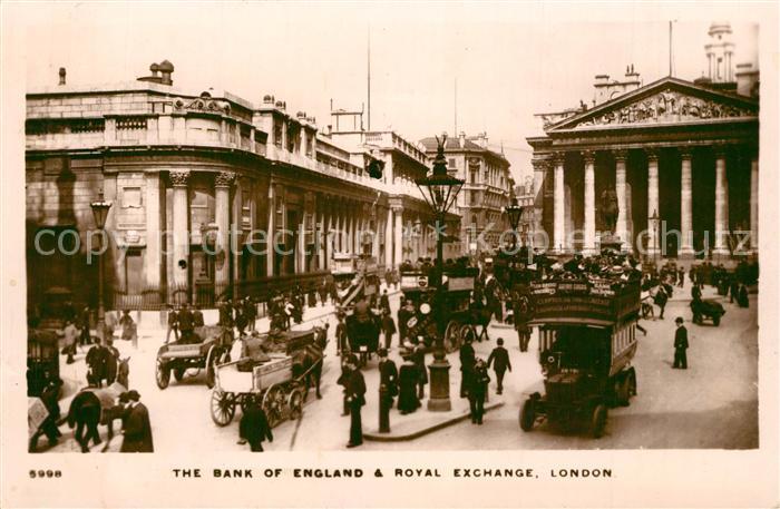 AK / Ansichtskarte London Bank of England Royal Exchange London