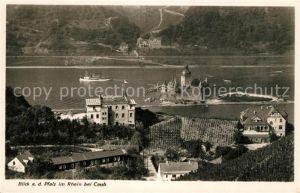 AK / Ansichtskarte Caub Die Pfalz im Rhein Caub