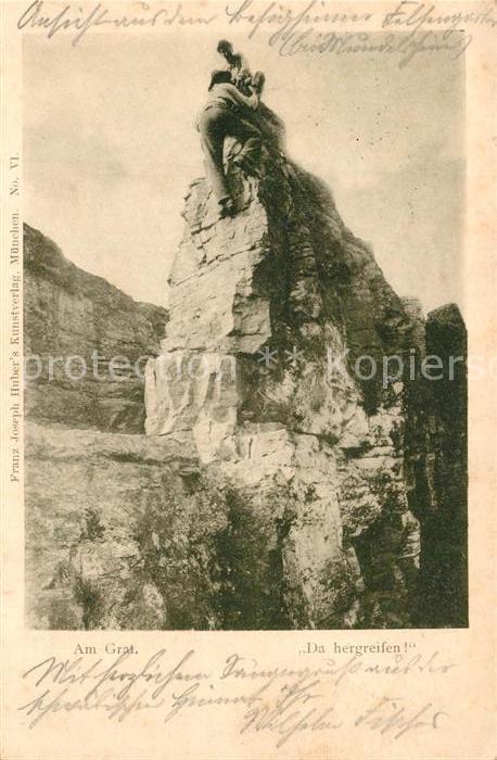 AK / Ansichtskarte Bergsteigen_Klettern Grat