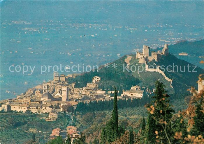 AK / Ansichtskarte Assisi_Umbria La Rocca Maggiore vista dal Monte Subasio Assisi Umbria