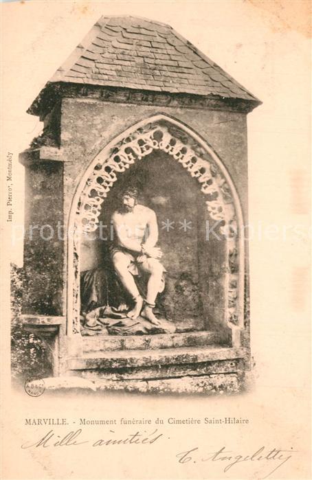 AK / Ansichtskarte Marville Monument funeraire du Cimetiere Saint Hilaire Marville